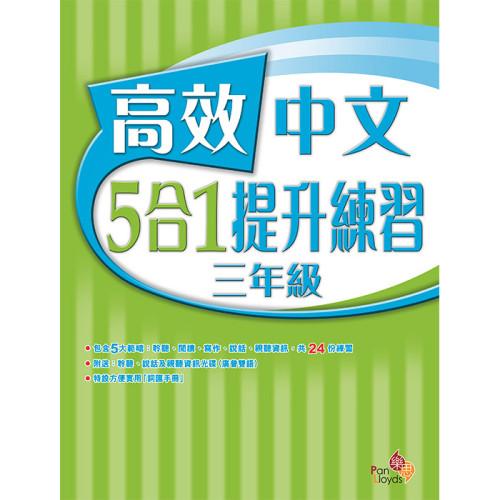 高效中文5合1提升練習 (3年級)